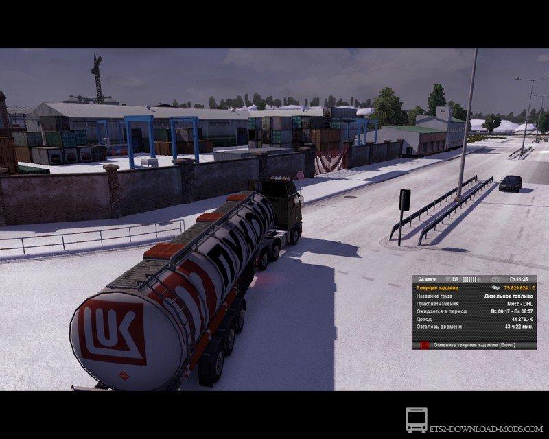 Скачать зимний мод german truck simulator