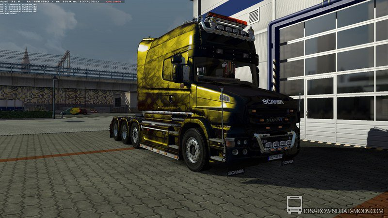 Постер к новости Грузовик Scania T reworked by Henki V2.4 для Euro Truck Simulator 2 1.10.1