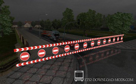 Мод «Road closed and warning Sign» для Euro Truck Simulator 2 1.11.1
