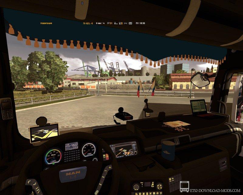 скачать мод на свет в кабине для Euro Truck Simulator 2 - фото 4