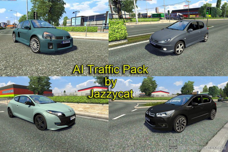 Скачать мод на трафик AI Traffic Pack v1.8 by Jazzycat для Euro Truck Simulator 2 1.13