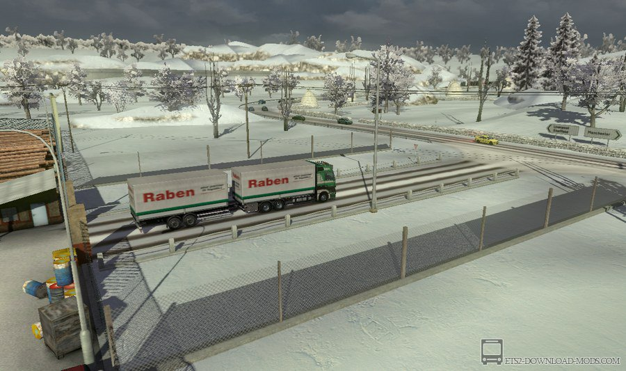 Скачать мод New Wintermod (Risk of Slipping) для Euro Truck Simulator 2 1.14