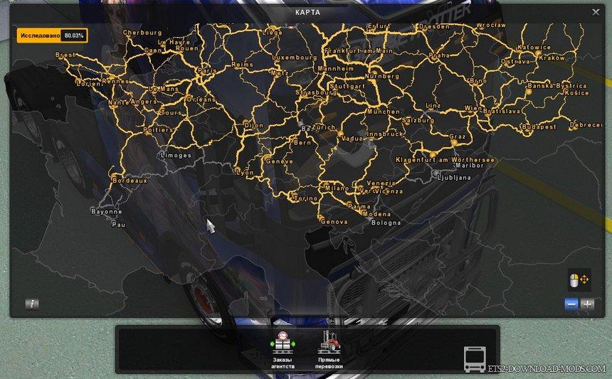 евро трек симулятор 2 скачать торрент с картой россии - фото 11