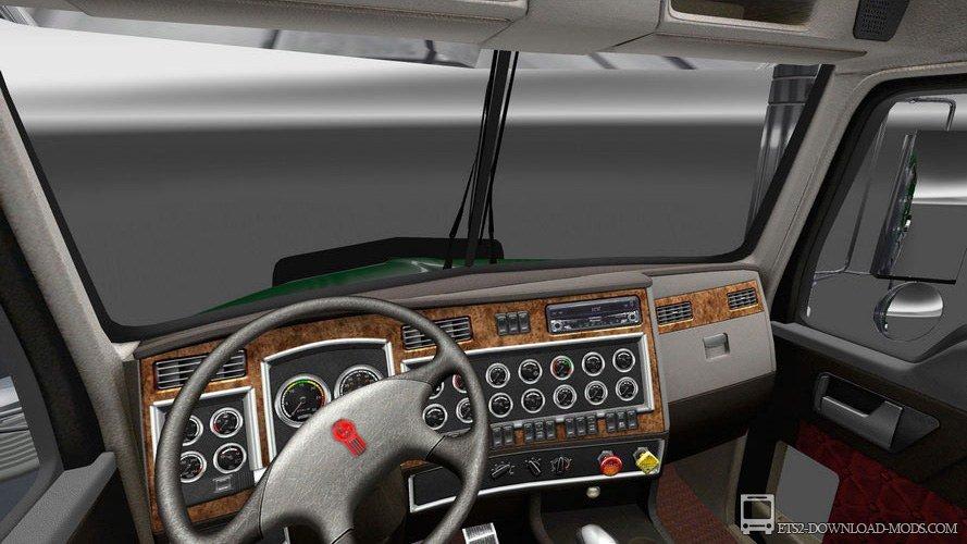 ... на грузовик на Евро Трек Симулятор 2 1.16: ets2-download-mods.com/ets2-mods/trucks-ets-2/356-kenworth-t800.html