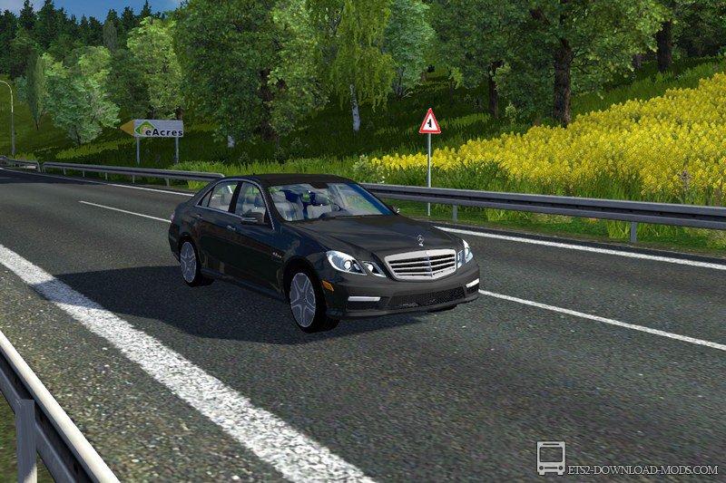 скачать мод на Euro Truck Simulator 2 на машину легковую - фото 9