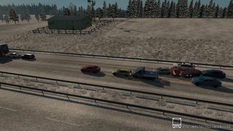 скачать мод на пробки для Euro Truck Simulator 2 - фото 5