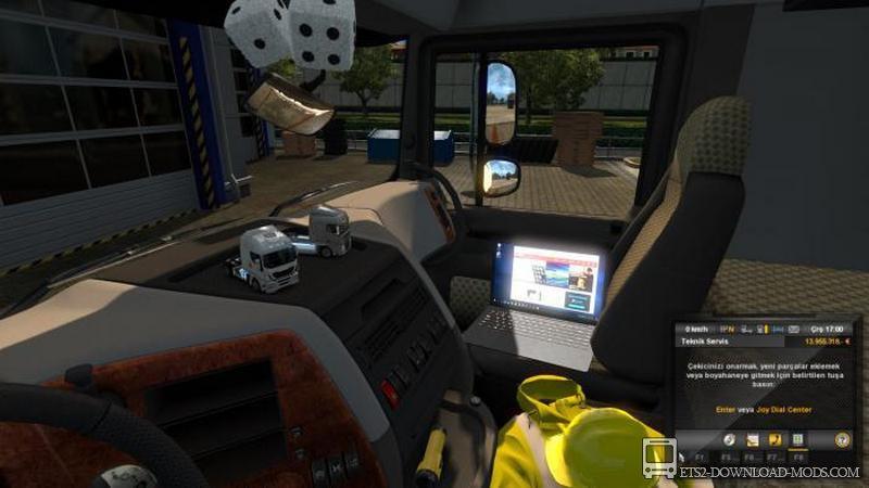 Скачать Мод На Euro Truck Simulator 2 На Аксессуары В Кабину Для - фото 7