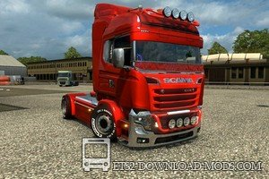 Грузовик Scania illegal V8 Reworked v3.0 для Euro Truck Simulator 2
