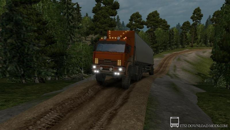 Мод на карту суровая россия для euro truck simulator 2.