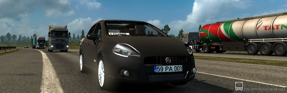 Мод на автомобиль Fiat Grande Punto для Euro Truck Simulator 2 (Фиат Grande Punto в ЕТС 2 1.27)