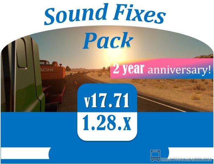 Скачать мод на звук Sound Fixes Pack v17.71 для ETS 2 1.28