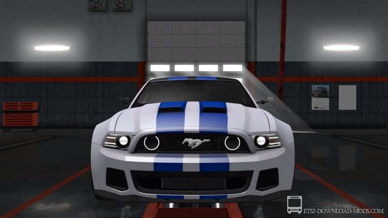 Спорткар Ford Mustang из Need For Speed для ETS 2 1.30